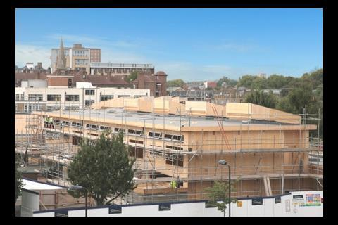 Berger school under construction this month